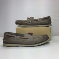 Sperry Men's Gold A/O Cross Lace Boat Shoes, Size 11M