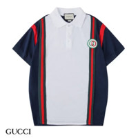 GUCCI New fashion embroidery letter contrast color couple top t-shirt