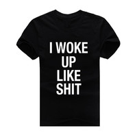 Quote 2015 New Fashion Men and women T-shirts Short Sleeve Tshirt Cotton t shirts