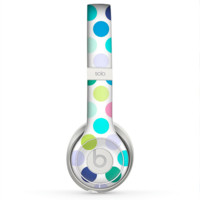 The Vibrant Colored Polka Dot V1 Skin for the Beats by Dre Solo 2 Headphones