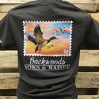 Backwoods Born & Raised Duck Stamp Bright Unisex T Shirt