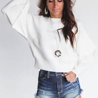 Carry Me White Sweater
