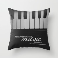 Music Speaks Throw Pillow by Jo Bekah Photography & Design