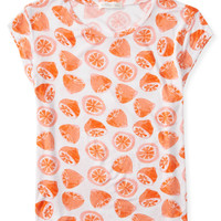 Oranges Cap Sleeve Top