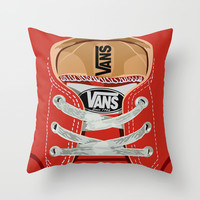 Cute red Vans all star baby shoes apple iPhone 4 4s 5 5s 5c, ipod, ipad, pillow case and tshirt Throw Pillow by Three Second