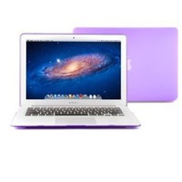 GMYLE Purple Rubberized Frosted See-Through Hard Shell Case Cover for Apple 13-inch 13 inches MacBook Air