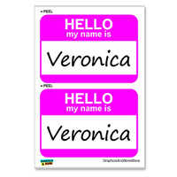 Veronica Hello My Name Is - Sheet of 2 Stickers