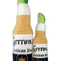 Grrona Cerveza Beer Bottle Dog Toy