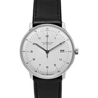 Junghans - Max Bill Automatic Stainless Steel and Leather Watch | MR PORTER