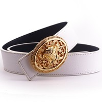 """Versace""Unisex Fashion Classic Multicolor Retro Needle Buckle Genuine Belt"