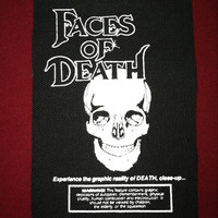 Faces Of Death Cloth Punk Patch