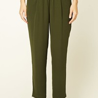 Pleated Woven Trousers
