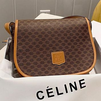 Hipgirls CELINE New fashion pattern print leather shopping leisure shoulder bag crossbody bag