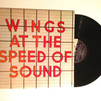 FALL SALE Wings At The Speed Of Sound Vinyl Record 1976 Classic Rock Wino Junko Silly Love Songs LP Album