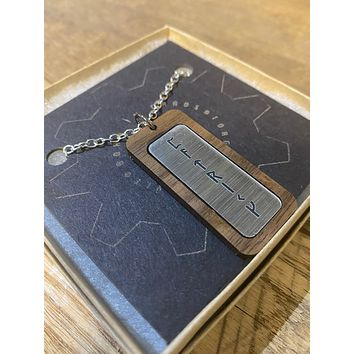 Viking Runes Necklace Custom Made with a Name or Phrase