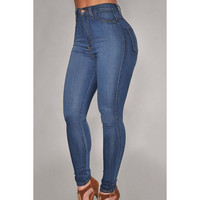 Stylish Skinny High-Waisted Jeans For Women