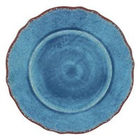 Antiqua Melamine Dinner Plates S/4 | Blue