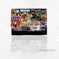 Marvel Avengers Iron Man Comic Book Pages *NEW* Small or Big Wallet Great Gift