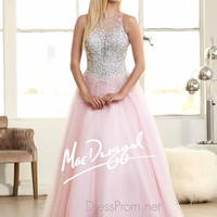 Illusion High Neckline Prom Ball Gown By Mac Duggal 76714H