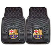Licensed Official New FC Barcelona Football Car Truck Front / Rear All Weather Rubber Floor Mats