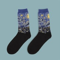 Vincent van Gogh's Starry Night Socks | Long