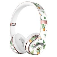 The Tropical Pineapple and Floral Pattern Full-Body Skin Kit for the Beats by Dre Solo 3 Wireless Headphones
