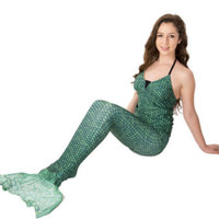 Mermaid Tail by Fin Fun – Swimmable Girls Tail – Celtic Green – No Monofin