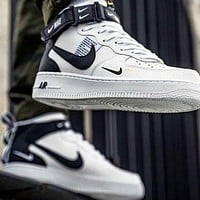 Nike Air Force 1 AF 1 casual high-top sneakers fashion men's and women's sports shoes