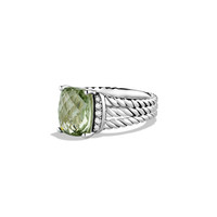 Petite Wheaton Ring with Prasiolite and Diamonds - David Yurman