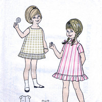 Uncut Blackmore Pattern 1960s / Toddler's Dress Pattern / Little Girl Child Age 1 and 2 / Vintage Sewing Pattern. Blackmore Pattern 9668.
