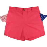 Freedom Shorts in Lobster Red/Fushia by Blankenship Dry Goods - FINAL SALE