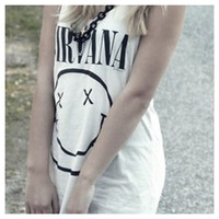 Vintage Nirvana Tank Top by SheaBoutique on Etsy