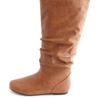 Flat Mid-Calf Slouch Boot: Charlotte Russe