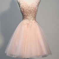 Lace Homecoming Dress, Gorgeour A Line Lace Homecoming Dresses