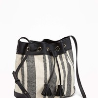 Striped Bucket Bag for Women | Old Navy