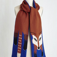 Critters Outfox the Eye Scarf in Royal by Yumi from ModCloth