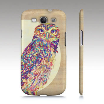 Samsung Galaxy s3 case, Galaxy S4 case, owl s3 case, colorful owl painting, owl phone case, animal painting, owl art for your phone