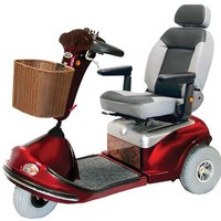 Shoprider Sprinter XL3 Deluxe 778XLSBN - Shoprider Mobility 3-Wheel Full Size Scooters   TopMobility.com