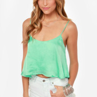 Queen of the Cropped Mint Crop Top