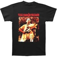 Texas Chainsaw Massacre Men's  Leatherface & Grandpa T-shirt Black