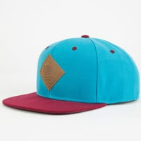 Neff All Day Mens Snapback Hat Teal Blue One Size For Men 24692624601
