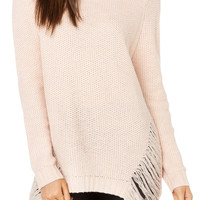 Pink High & Low Cozy Sweater