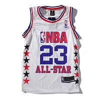 Jordan New fashion letter star print sports vest top t-shirt White