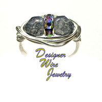 DWJ0405 Limited Edition Czech Art Glass Faceted Gray Luster Duet Silver Plated W