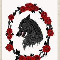 """Darling Beast Art Print 8.5"""" x 11"""", Archival, Signed by Artist"""