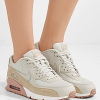 Nike - Air Max 90 suede-trimmed leather sneakers