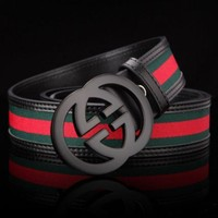 CREYOND Perfect Woman Men Fashion Smooth Buckle Belt Leather Belt