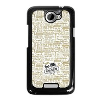 COACH NEW YORK COLLAGE HTC One X Case Cover