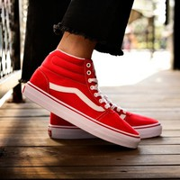 Vans classic red sneakers shoes and shoe lovers