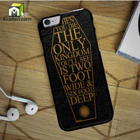 Bring Me The Horizon Coffin The House of Wolves Quote iPhone 6S case by Avallen